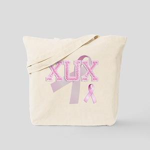 XUX initials, Pink Ribbon, Tote Bag