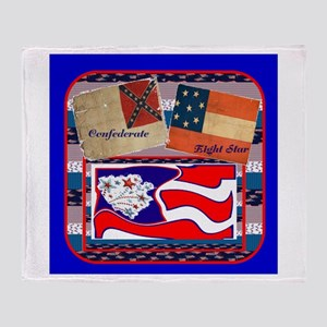 Confederate~Eight Star Throw Blankets