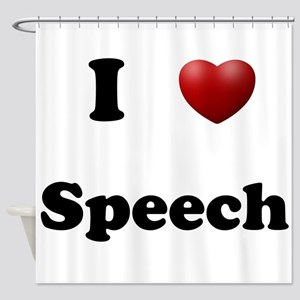 Speech Shower Curtain