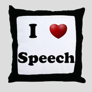 Speech Throw Pillow