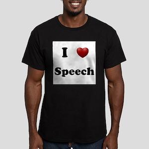 Speech Men's Fitted T-Shirt (dark)