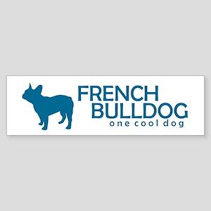 "French Bulldog ""One Cool Dog"" Bumper Sticker"