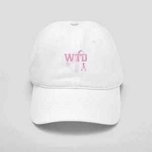 WTD initials, Pink Ribbon, Cap