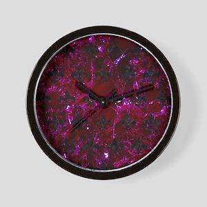 ROYAL1 BLACK MARBLE & BURGUNDY MARBLE Wall Clock