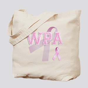WPA initials, Pink Ribbon, Tote Bag