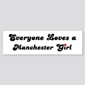 Manchester girl Bumper Sticker