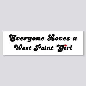 West Point girl Bumper Sticker