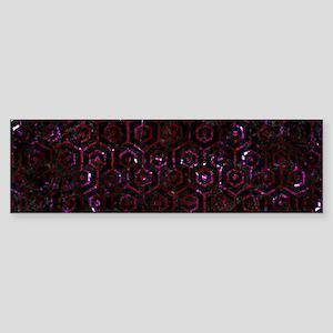 HEXAGON1 BLACK MARBLE & BURGUNDY Sticker (Bumper)