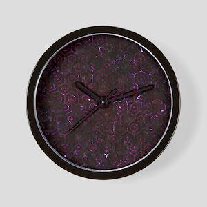 HEXAGON1 BLACK MARBLE & BURGUNDY MARBLE Wall Clock