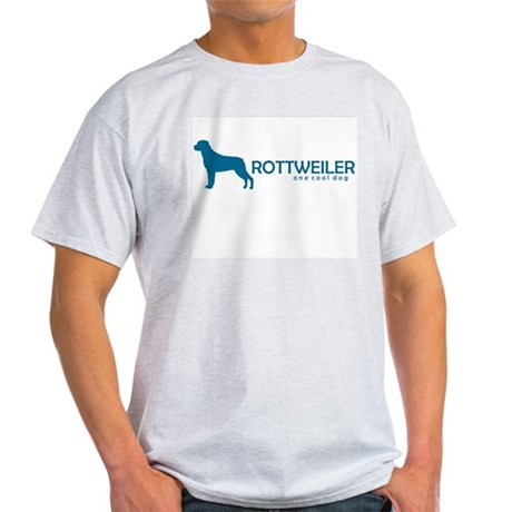 "Rottweiler ""One Cool Dog"" Ash Grey T-Shirt"