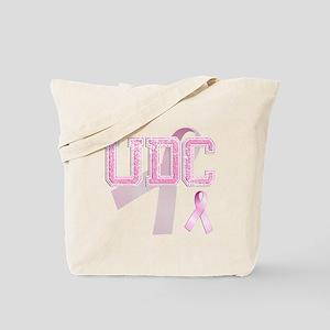 UDC initials, Pink Ribbon, Tote Bag