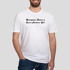 Santa Barbara girl Fitted T-Shirt