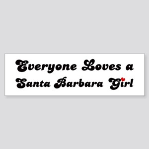 Santa Barbara girl Bumper Sticker