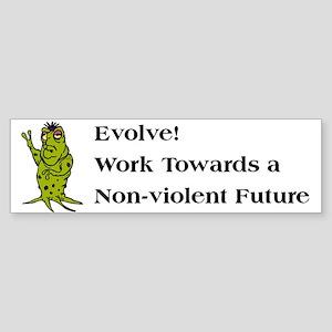 Support Non-Violence Bumper Sticker