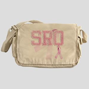 SRQ initials, Pink Ribbon, Messenger Bag