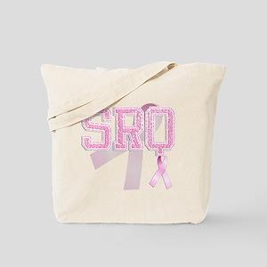 SRQ initials, Pink Ribbon, Tote Bag