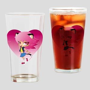 Nyan Love Drinking Glass
