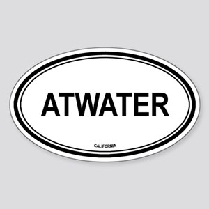 Atwater oval Oval Sticker