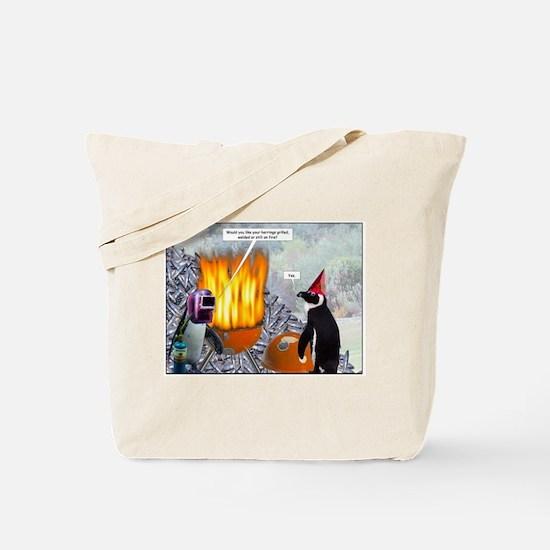 Grilling Herrings Tote Bag