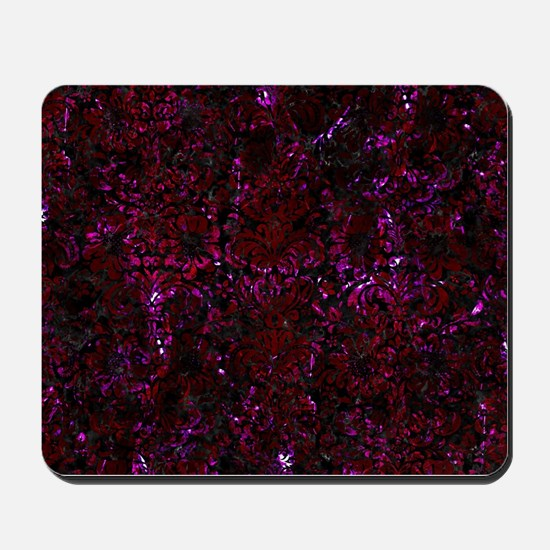 DAMASK2 BLACK MARBLE & BURGUNDY MARBLE Mousepad