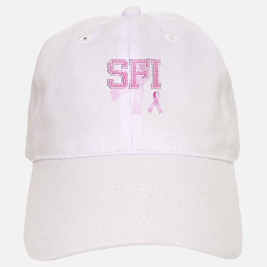 SFI initials, Pink Ribbon, Baseball Baseball Cap