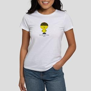 """This chick wears combat boot Women's T-Shirt"