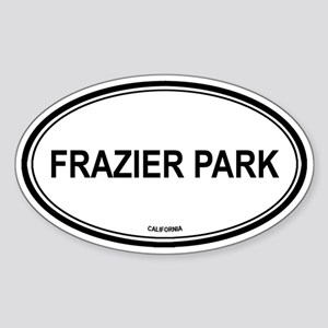 Frazier Park oval Oval Sticker