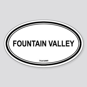 Fountain Valley oval Oval Sticker