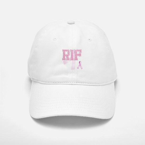 RIF initials, Pink Ribbon, Baseball Baseball Cap