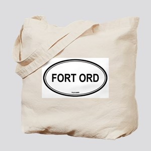 Fort Ord oval Tote Bag
