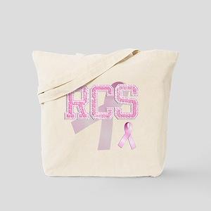 RCS initials, Pink Ribbon, Tote Bag