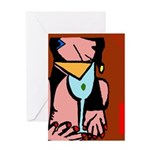 Abstract Drinker Greeting Card
