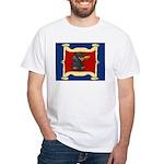 Dachshund Framed by Woman White T-Shirt