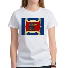 Dachshund Framed by Woman Women's T-Shirt