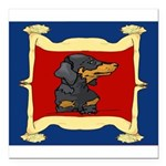 Dachshund Framed by Woman Square Car Magnet 3