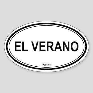 El Verano oval Oval Sticker