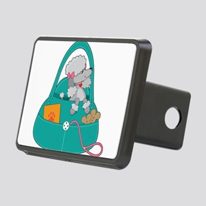 Travel Poodle Rectangular Hitch Cover