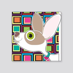 "Chihuahua Portrait Square Sticker 3"" x 3"""