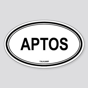 Aptos oval Oval Sticker