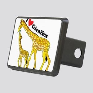 giraffe and baby cp Rectangular Hitch Cover
