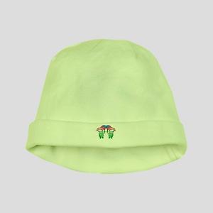 Patriotic Frogs baby hat