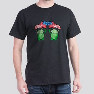Patriotic Frogs Dark T-Shirt