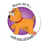 love_mutts Round Car Magnet
