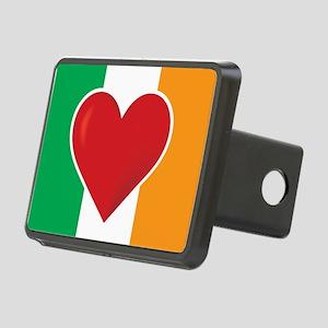 Heart Irish Flag Rectangular Hitch Cover