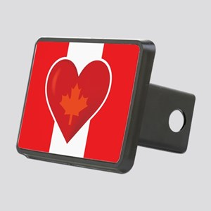 Heart Canadian Flag Rectangular Hitch Cover