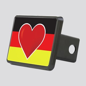 Heart Germany Flag Rectangular Hitch Cover