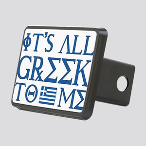 greek to me pod Rectangular Hitch Cover