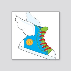 "Flying Sneaker Square Sticker 3"" x 3"""