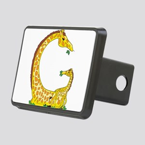 animal alphabet Giraffe Rectangular Hitch Cover