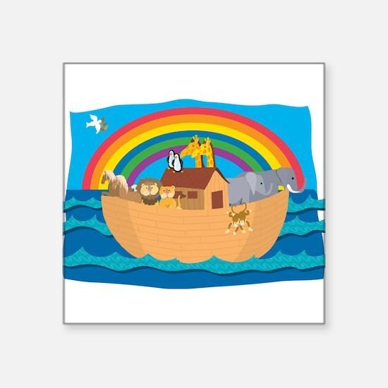 "Noah's Ark Square Sticker 3"" x 3"""